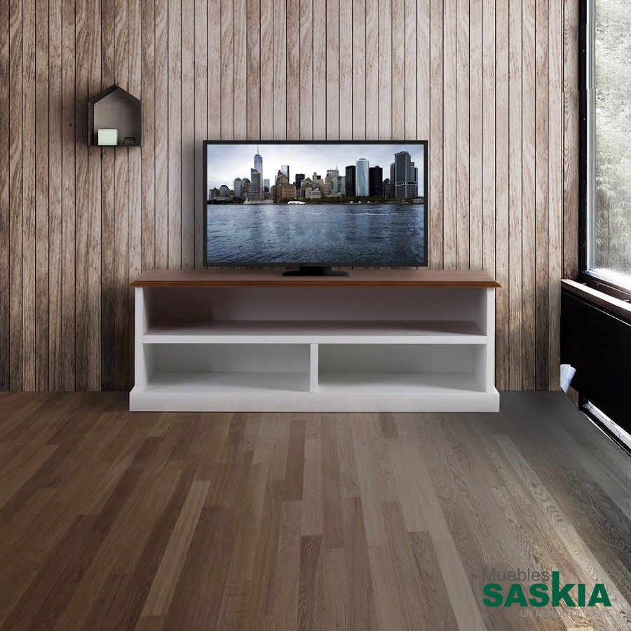 Mueble TV, tonos blancos