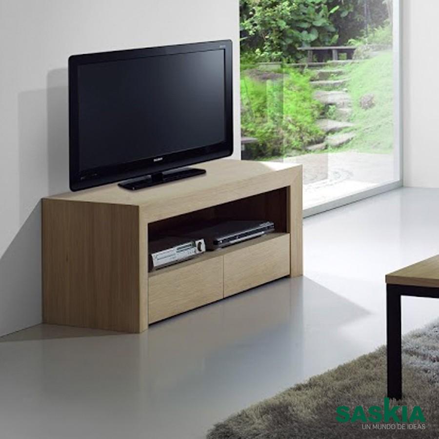 Mueble TV Amelie con 2 cajones
