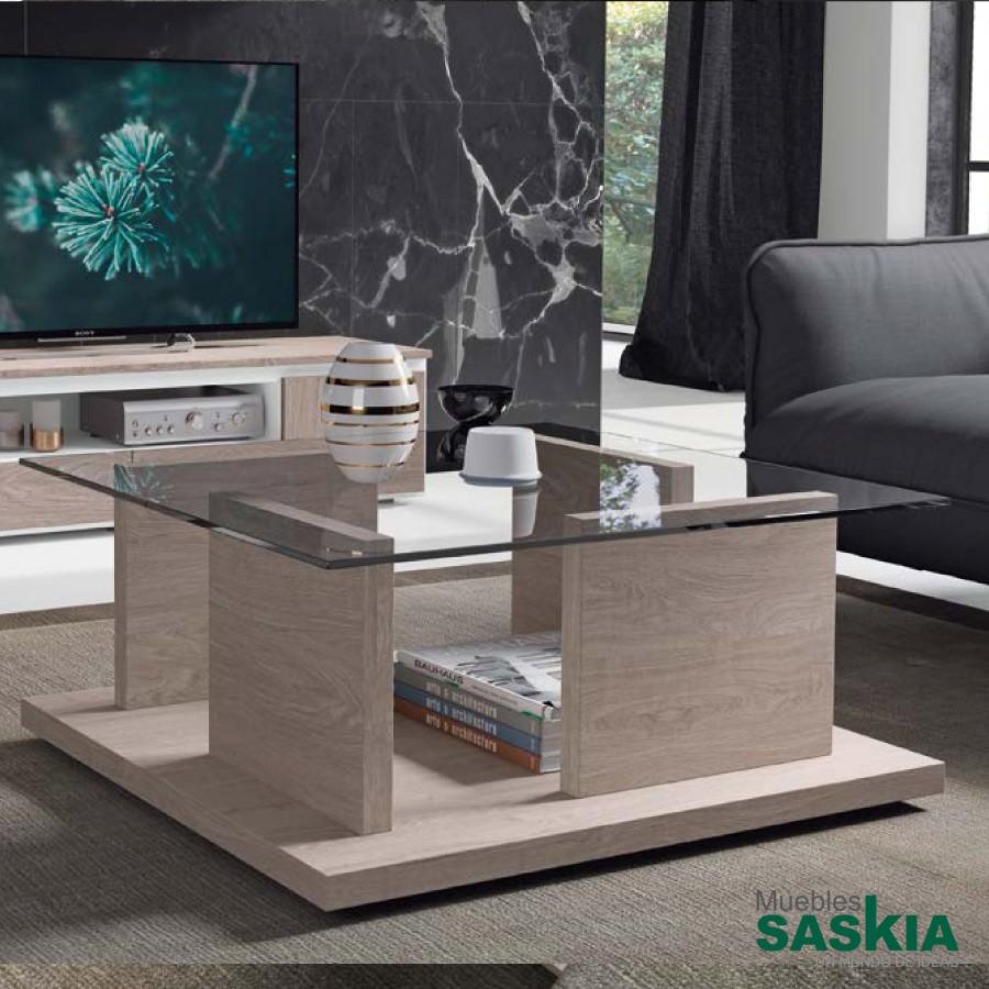 Mesas de centro sal n moderno muebles saskia en pamplona - Mesas de centro salon ...