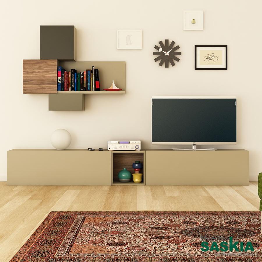 Conjunto de muebles de sal n tendencia composicion pg 23 93 muebles saskia en pamplona - Conjunto muebles salon ...