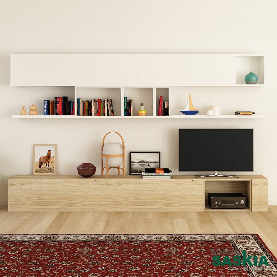 Mueble de salón, laca combinada
