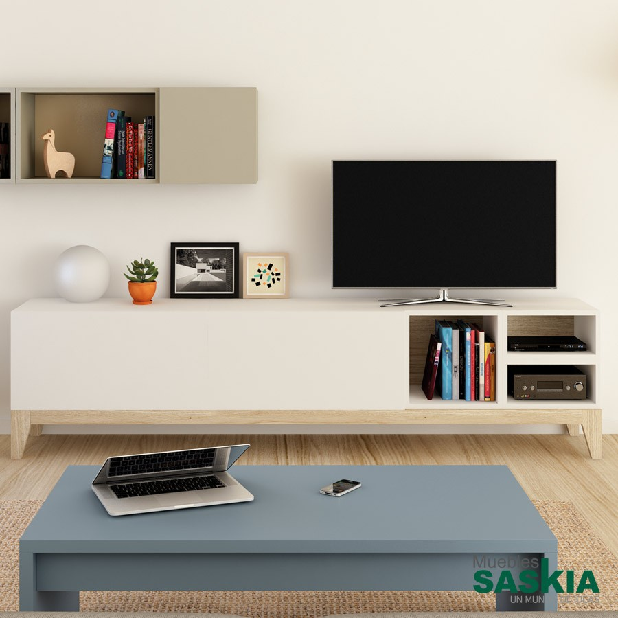 Muebles tv sal n moderno muebles saskia en pamplona for Muebles salon tv modernos