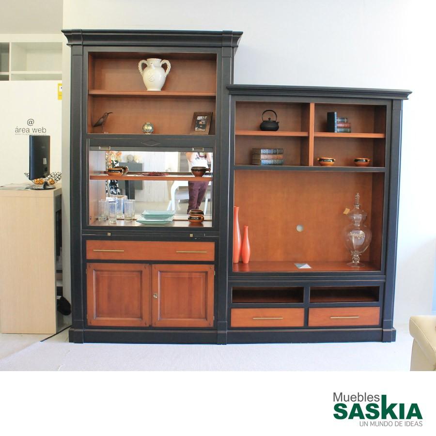 Muebles para libreria mueble para tv y estante librera for Ofertas muebles salon