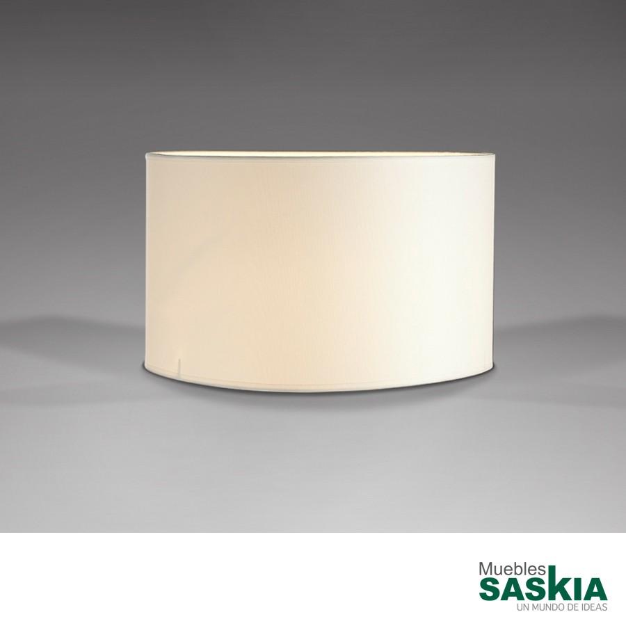 Pantalla redonda blanca diámetro 36x21