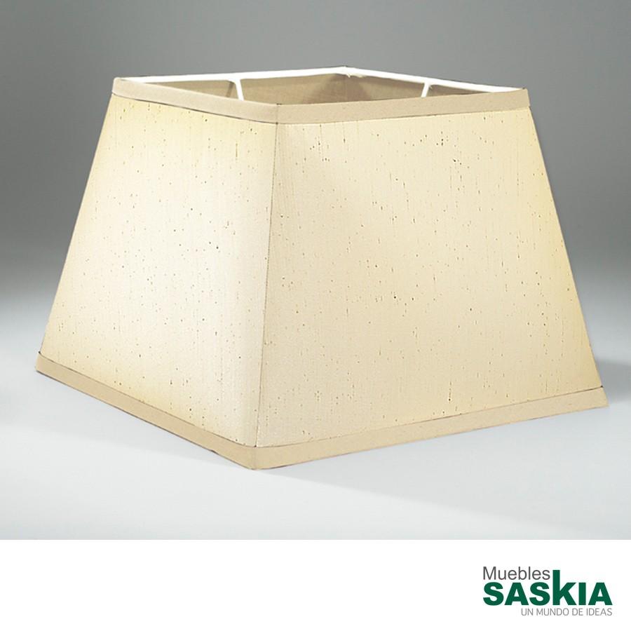 Pantalla beige 43x43x30