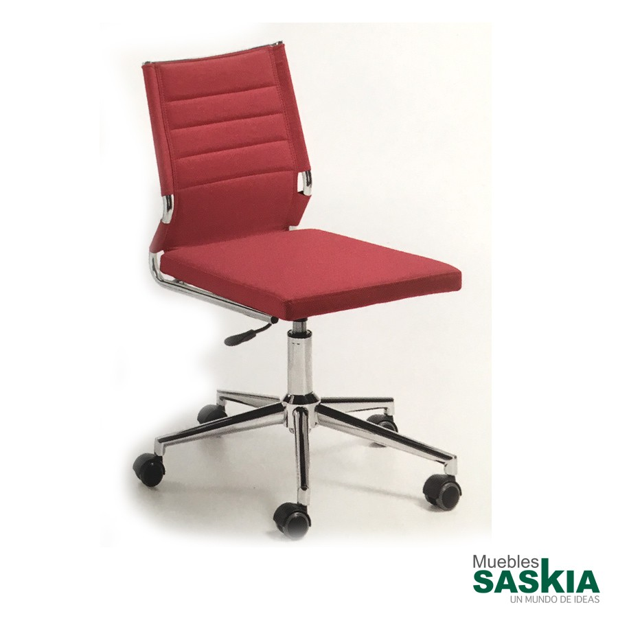 Silla de oficina elevable, color rojo