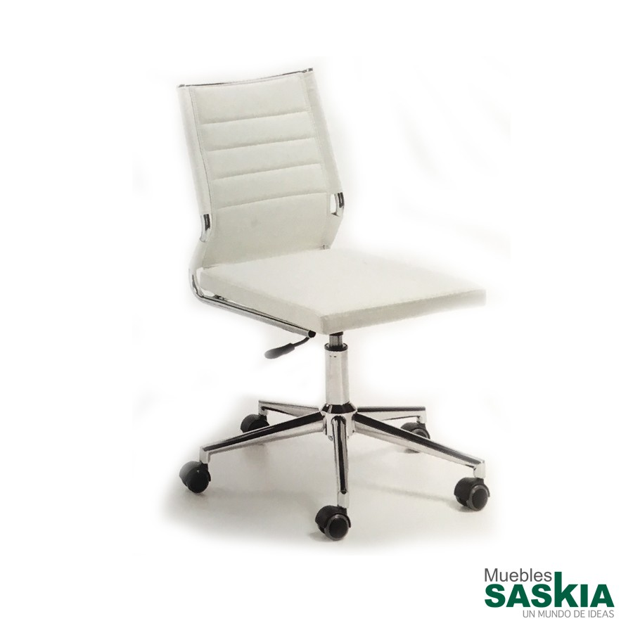 Silla de oficina elevable, color blanco