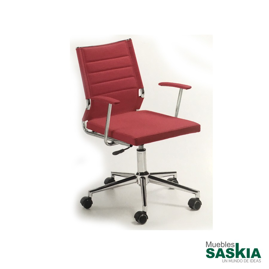 Silla de oficina elevable color rojo plt home 40 fcb for Muebles de oficina pamplona