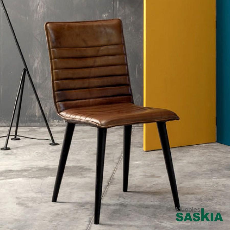 Monterey, silla tapizada piel de calidad