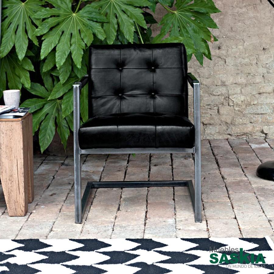 Memphis, silla tapizada en piel de calidad