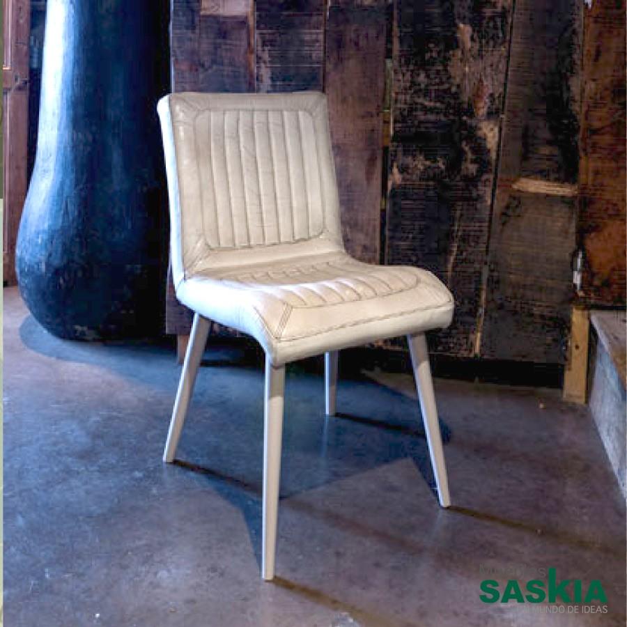 San Diego, silla tapizada en piel de calidad