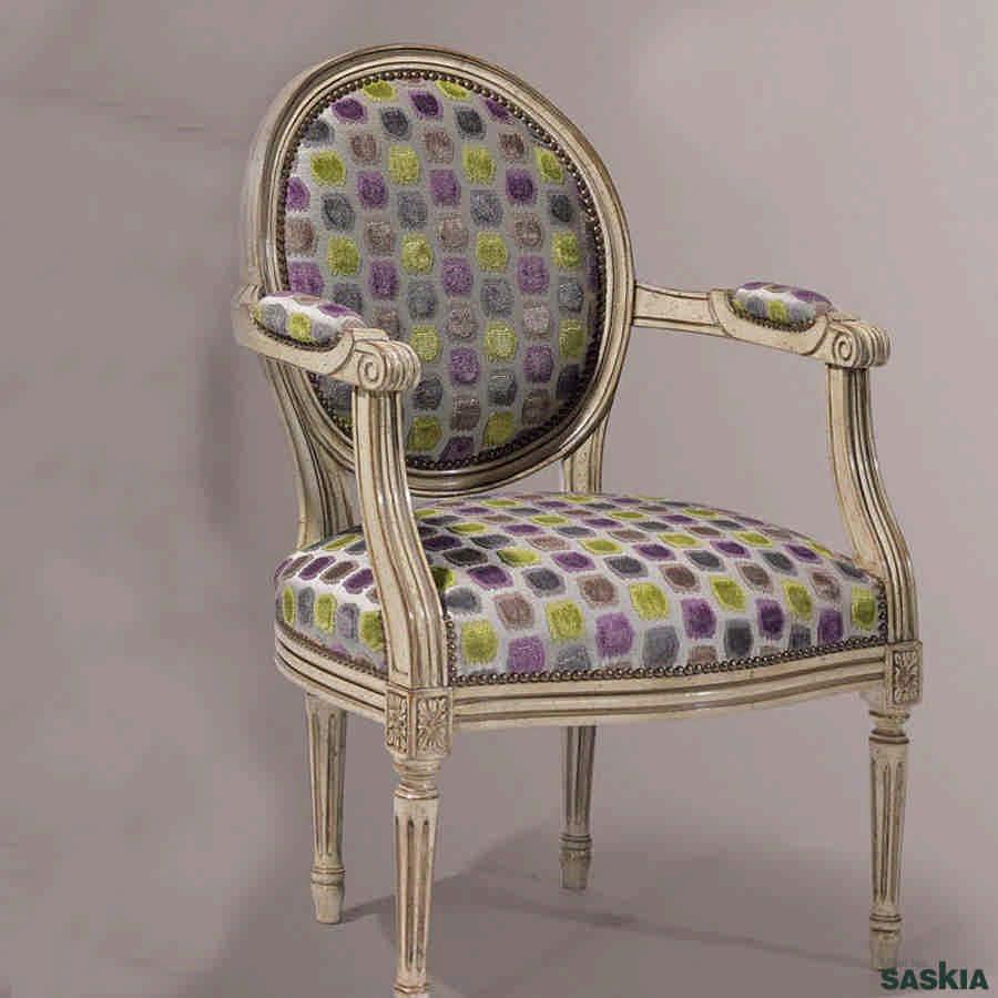 Silla con brazos estilo louis xvi 18 18 muebles saskia en pamplona - Sillas louis xvi ...