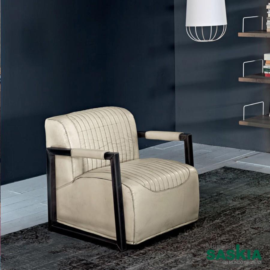 Detroit retro Arm, sillón de piel
