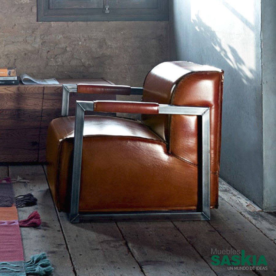 Detroit Arm, sillón de piel