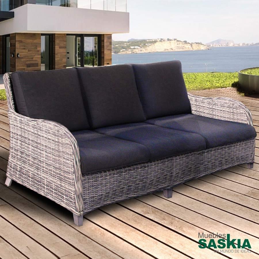 Sofa exterior benoa blanco/Gris