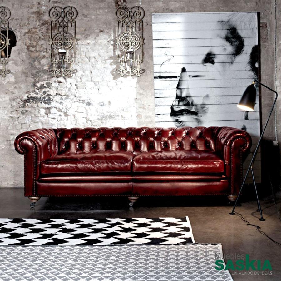 British, sofá de piel