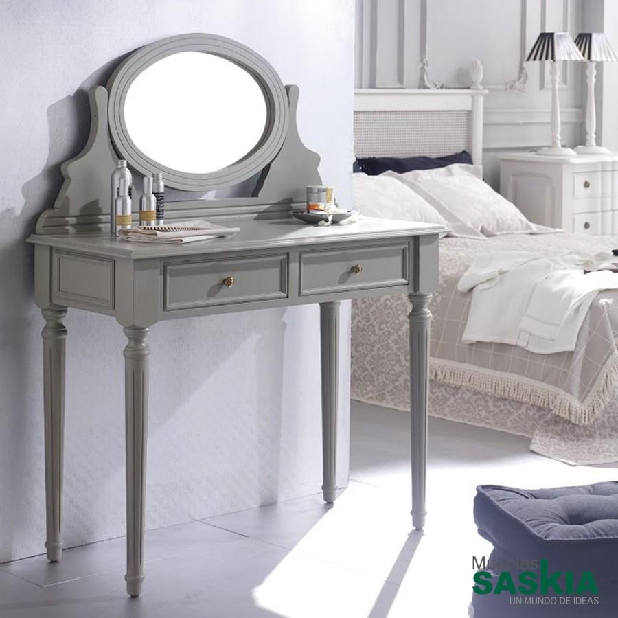 Tocador con dos cajones y un espejo orientable