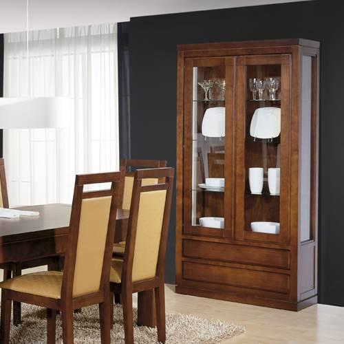 Vitrina n rdico 4252 muebles saskia en pamplona - Vitrinas para casa ...