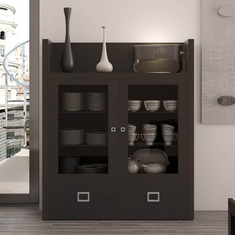 Vitrina trevi 130 vitrina p21 muebles saskia en pamplona - Vitrinas modernas para comedor ...